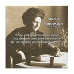 Maria Montessori Education Tile Coaster