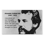 Alexander Graham Bell Sticker (Rectangular)