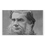 Thomas Huxley and Darwin Sticker (Rectangular)