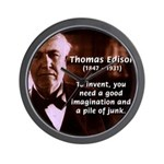 Imagination Thomas Edison Wall Clock