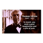 Imagination Thomas Edison Sticker (Rectangular)
