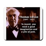 Imagination Thomas Edison Mousepad