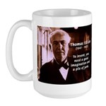 Imagination Thomas Edison Large Mug