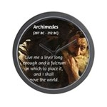 Greek Mathematician: Archimedes Wall Clock
