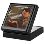 French Poets Baudelaire Tile Box