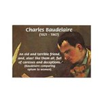French Poets Baudelaire Rectangle Magnet