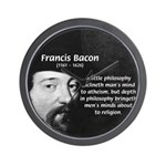 Philosopher Francis Bacon Wall Clock