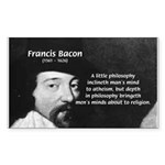 Philosopher Francis Bacon Sticker (Rectangular)