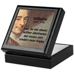 French Philosopher: Voltaire Tile Box