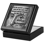 Playwright William Shakespeare Tile Box