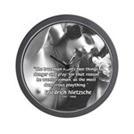 Desire for Women Neitzsche Wall Clock