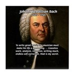 Composer J.S. Bach Tile Coaster
