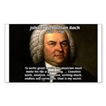 Composer J.S. Bach Sticker (Rectangular)