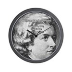 Music, Genius and Mozart Wall Clock
