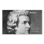 Music, Genius and Mozart Sticker (Rectangular)