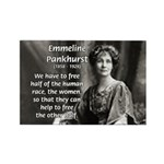 Suffragist Emmeline Pankhurst Rectangle Magnet