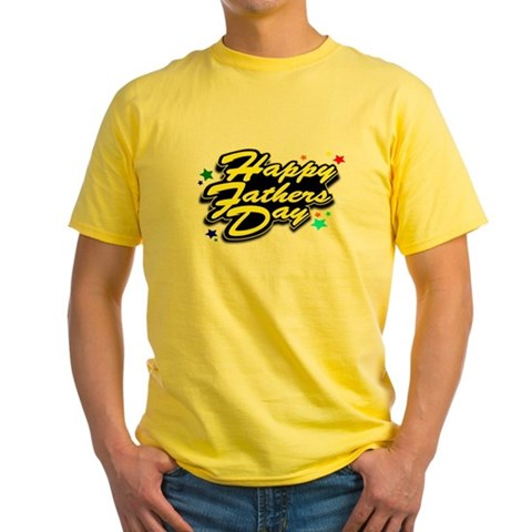 Product Image of HAPPY FATHERS DAY YELLOW Yellow T-Shirt