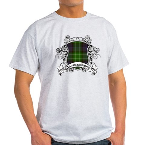 Abercrombie Tartan Shield Family Light T-Shirt by CafePress