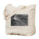 Alternating Current: Tesla Tote Bag
