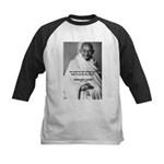 Loyalty to Cause: Gandhi Kids Baseball Jersey