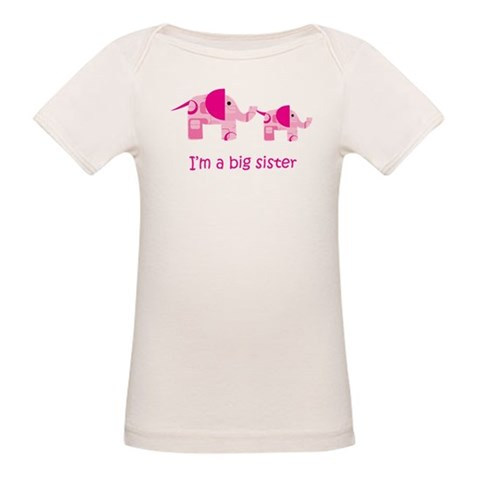 I'm a big sister  Animals Organic Baby T-Shirt by CafePress