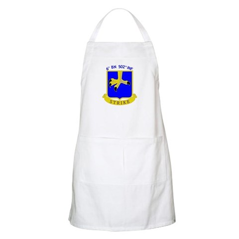 6/502 INF BBQ  Military Apron by CafePress