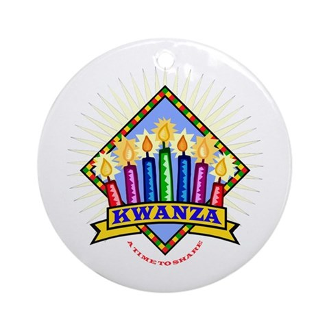 Kwanza Ornament Round African american Round Ornament by CafePress
