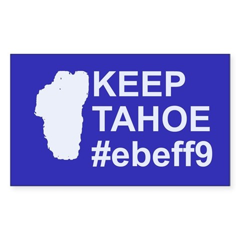 Keep Tahoe ebeff9 10 pk  Rectangle Sticker 10 pk by CafePress