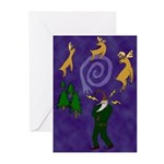 Santa the Shaman Greeting Cards