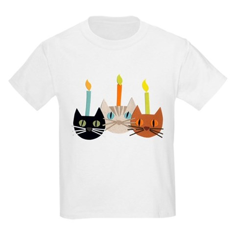 Product Image of Birthday Cats Kids Light T-Shirt