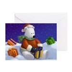 Cute Polar Bear Santa Greeting Cards (2358101 of 10)