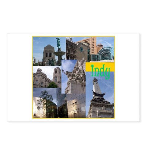 - indy Travel Postcards Package of 8 by CafePress