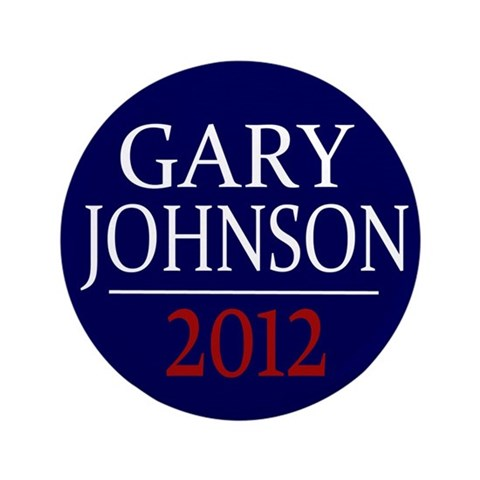 Gary Johnson 2012 3.5quot; Large Button 100 pk Republican 3.5 Button 100 pack by CafePress
