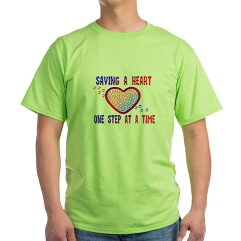 Product Image of Walk to save a heart 1 Green T-Shirt