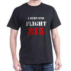 LOST I Survived Flight 815 Black T-Shirt