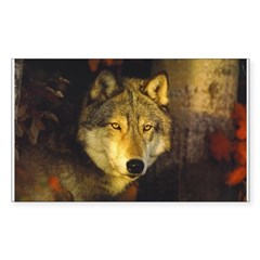 Wolf Sticker (Rectangular)
