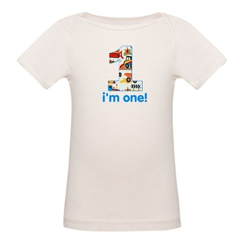 I'm one  Baby Organic Baby T-Shirt by CafePress