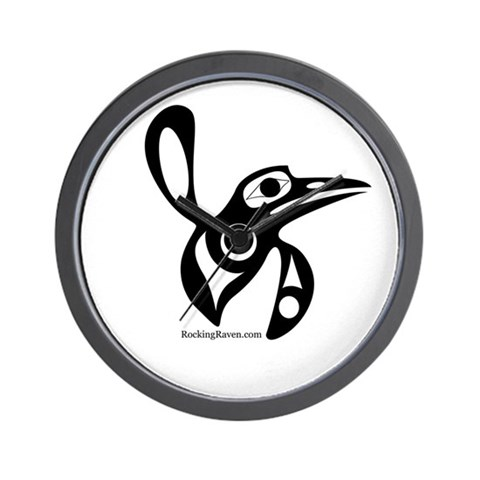 Haida Hummingbird  Art Wall Clock by CafePress