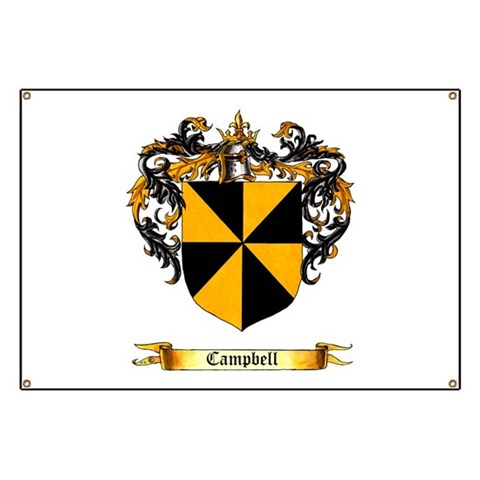 Campbell Shield  Military Banner by CafePress