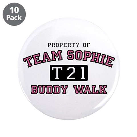 3.5quot; Team Sophie Buddy Walk Button 10 pack Down syndrome 3.5 Button 10 pack by CafePress