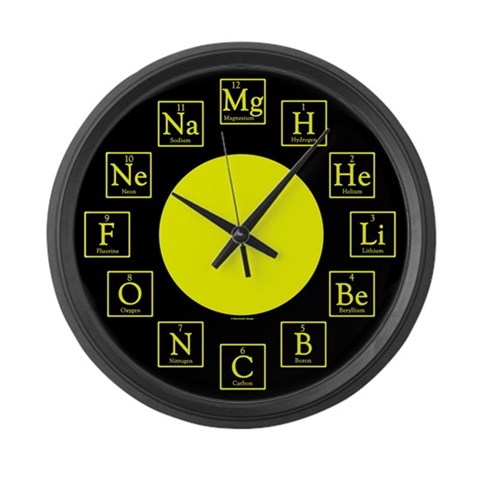 Chemistry Geek  Funny Large Wall Clock by CafePress