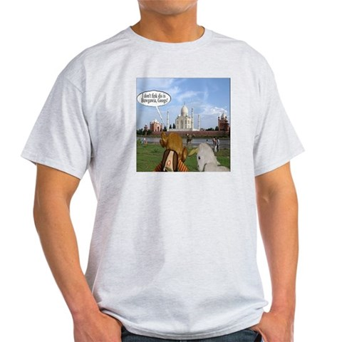 JP and Googie in Bulgaria Light T-Shirt by CafePress