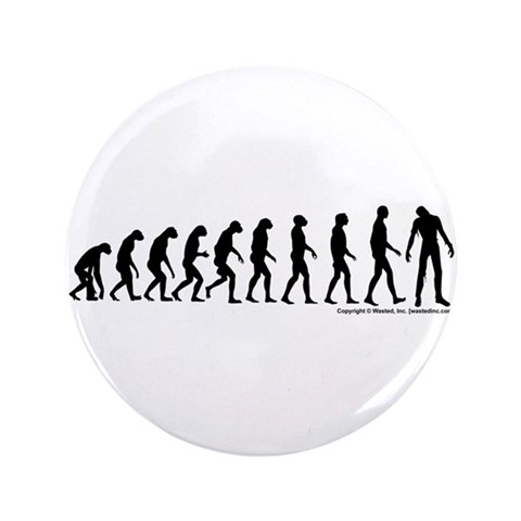 Zombilution  Zombie 3.5 Button by CafePress