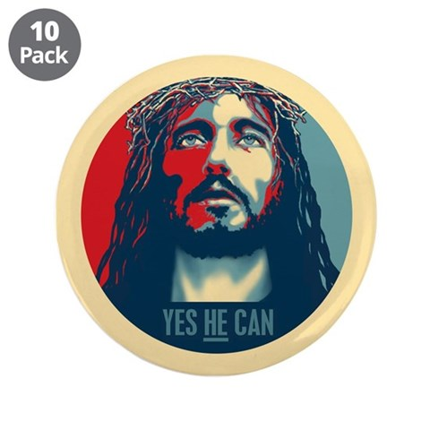 Yes HE Can 3.5quot; Button 10 pack Cupsreviewcomplete 3.5 Button 10 pack by CafePress