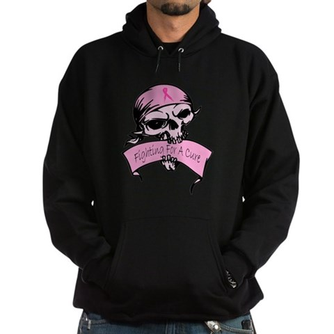 Fighting for a Cure -- Breast Cancer Awareness Hoo Breast cancer Hoodie dark by CafePress