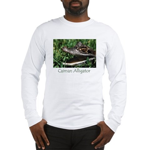 - Caiman Alligator Baby Long Sleeve T-Shirt by CafePress