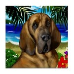 BLOODHOUND dog art tile coasters