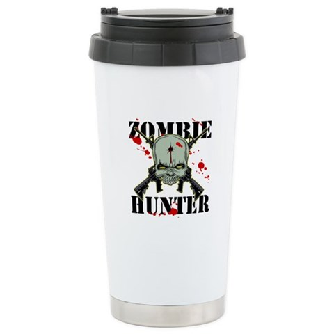 Zombie Hunter  Zombie Ceramic Travel Mug by CafePress