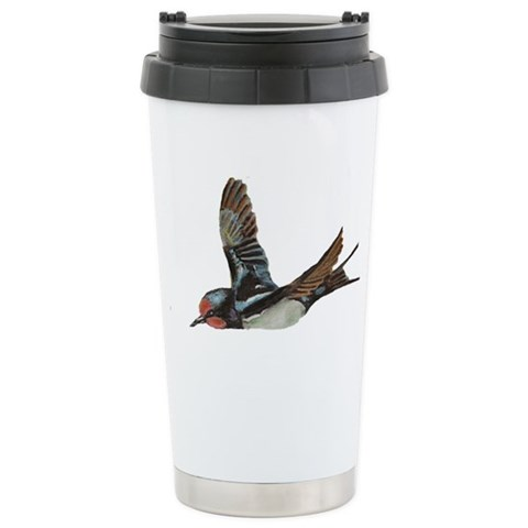 with Hummingbird Art Ceramic Travel Mug by CafePress