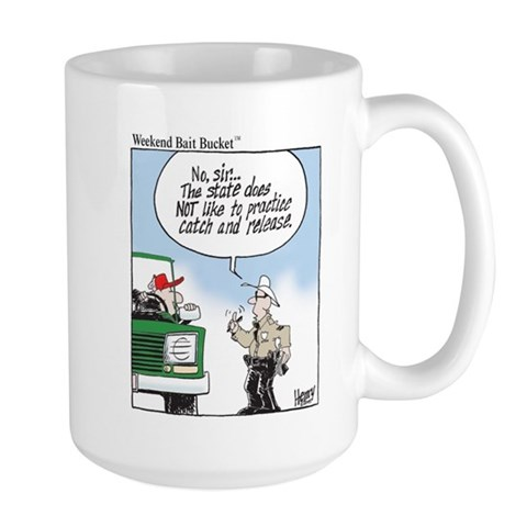 Weekend Bait Bucket Fishing Giant Mug Funny Large Mug by CafePress